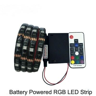 $5.63 • Buy Battery Powered LED Strip 5050 RGB 1M LED Flexible Strip Tape String Light DC5V
