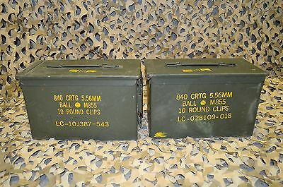 $54.95 • Buy 3 PACK 50 Cal M2A1 AMMO CAN COMPLETELY REFURBISHED GREAT CONDITION FREE SHIPPING