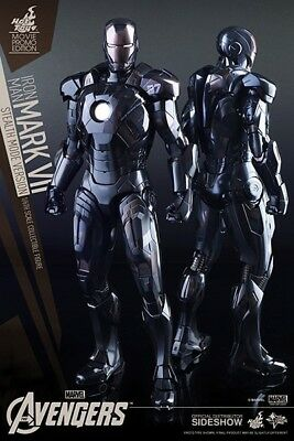 AU480 • Buy Iron Man Mark VII Stealth 1/6 Scale 30cm Figure Avengers Hot Toys Collectible