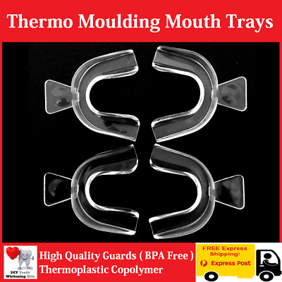AU18.99 • Buy 4 X Teeth Whitening Thermo Mould Mouth Trays (4 TRAYS) High Quality Guards