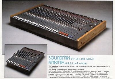 Vintage Hill Soundmix 24 Channel Audio Desk With PS1 48V Supply 4 Buss 24:4:2:1 • 1,950£
