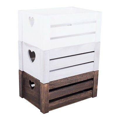 Wooden Box Heart Design Home Storage Decoration Wedding  Gift Wood Crates • 8.99£