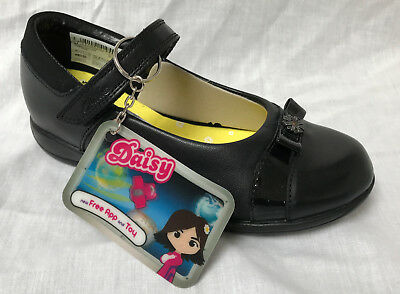BNIB Clarks Daisy Locket Black Leather School Shoe E/F/G/H Fitting • 21.99£