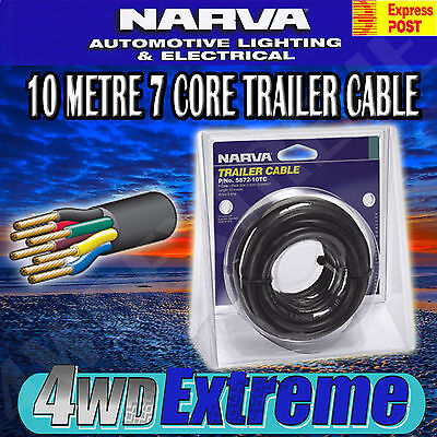 AU55 • Buy Narva 10 Metre 7 Core Trailer Cable Roll, 2.5mm 5a 10m, Electric Wire 5872-10tc