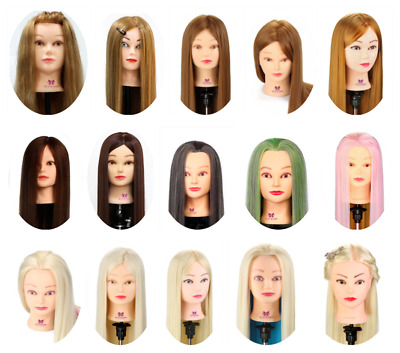 $25.99 • Buy 22 -30  Cosmetology Hairdressing Training Head Practice Mannequin + Clamp