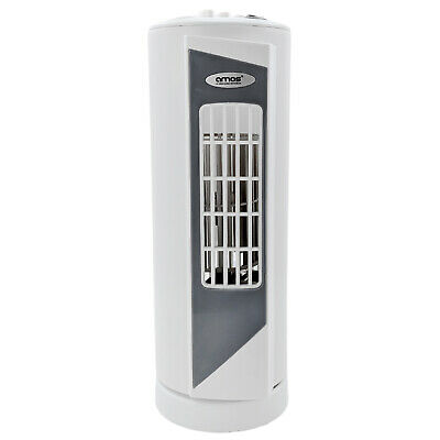 AMOS 14  Tower Desk Fan 3 Speed Portable Oscillating Electric Office Air Cooling • 16.99£
