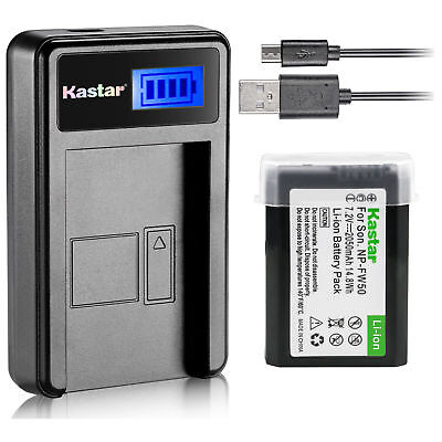 $ CDN17.06 • Buy NP-FW50 BC-VW1 Battery & LCD Charger For Sony ILCE-6500 Alpha A6500, ILCE-QX1
