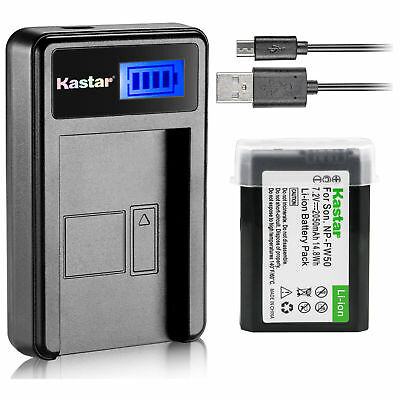 $ CDN16.92 • Buy NP-FW50 BC-VW1 Battery & LCD Slim Charger For Sony  ILCE-7M2 Alpha 7 II A7 II