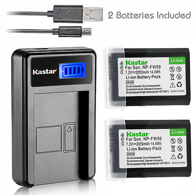 $ CDN23.34 • Buy NP-FW50 BC-VW1 Battery & LCD Charger For Sony ILCE-6500 Alpha A6500, ILCE-QX1