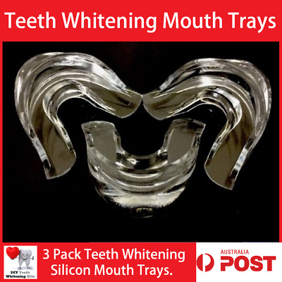 AU14.99 • Buy 3 Pack Teeth Whitening Silicon Mouth Trays Mouth Guards