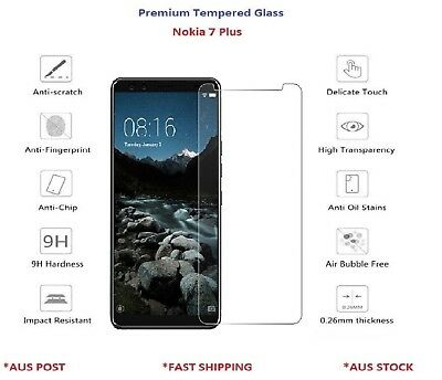 AU8.49 • Buy Premium Tempered Glass Screen Protector For Nokia 7 Plus Genuine Top Quality 9H