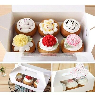 AU26.99 • Buy 4/6/12 Hole Paper Cupcake Box Paperboard Inserts Cakes Cookies Packing Gift Case