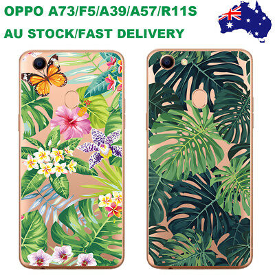AU12.98 • Buy OPPO A57 A39 F5 A73 R11S R9S Case Hollow-carved Green Leaves Patterned TPU Cover