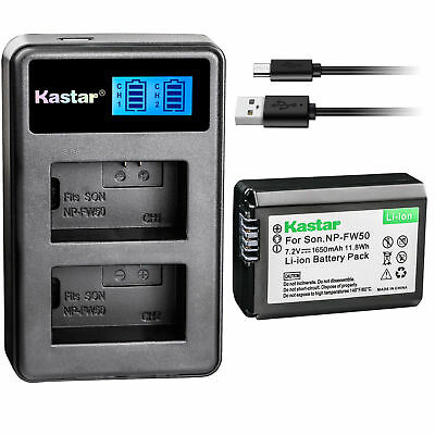$ CDN18.82 • Buy NP-FW50 BC-VW1 Battery & LCD Charger For Sony ILCE-6500 Alpha A6500, ILCE-QX1