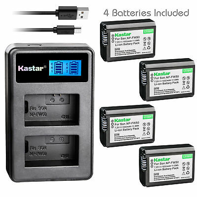 $ CDN39.99 • Buy NP-FW50 BC-VW1 Battery & LCD Dual Charger For Sony ILCE-6300 Alpha A6300