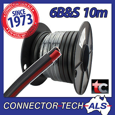 AU109.95 • Buy 10 Metres 6B&S Twin Core Cable Tycab Wire 10M 4WD Caravan Battery #TC6BSx10