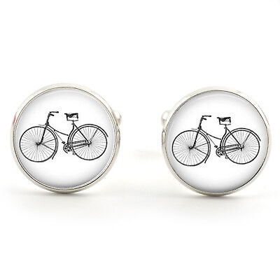 £6.99 • Buy Bicycle Bike Cufflinks  Silver Plated + Free Gift Box  & 1st Class Post