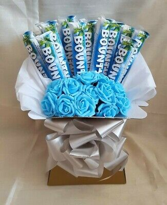 £23.99 • Buy Chocolate Bouquet Bounty & Flowers Ideal For Birthdays - Sweet Gift Hamper