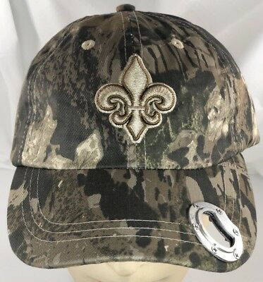 £12 • Buy NFL New Orleans Saints Camo Baseball Style Cap Hat Camoflage Bottle Opener Bill