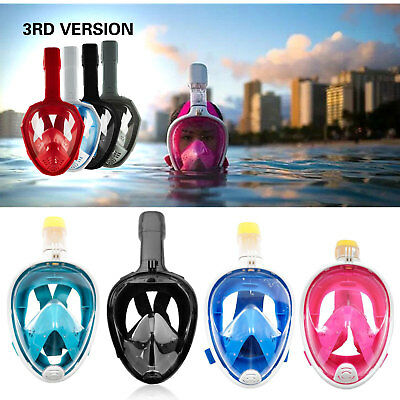 AU24.99 • Buy Snorkel Mask Full Face Diving Swimming Goggle Surface Snorkeling Pipe For GoPro
