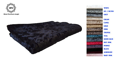 Premium Crushed Velvet Fabric Crafts Curtains Sofa Beds Upholstery 15 Colours • 12.49£