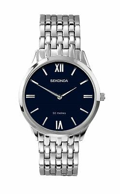 £22.99 • Buy Sekonda Mens Watch With Blue Dial And Silver Bracelet 1609
