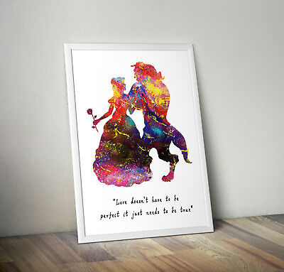 Beauty And The Beast, Print, Poster, Disney, Quote, Wall Art, Inspirational • 2.95£
