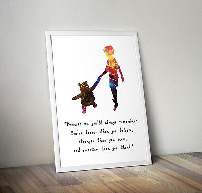 Winnie The Pooh, Print, Poster, Disney, Quote, Wall Art, Inspirational • 2.95£