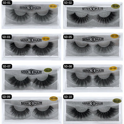 3D Mink Natural Thick False Fake Eyelashes Handmade Lashes Makeup Extension  • 3.99£