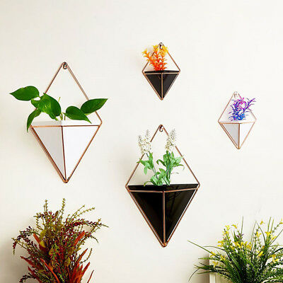 Modern Metal Garden Wall Hanging Herb Flower Plant Planter Hanger Pot Holder Box • 12.95£