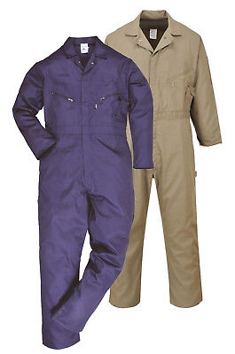 £20.89 • Buy PORTWEST Dubai Coverall Lightweight Overall Safety Boilersuit Cotton Zip C812