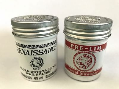 Renaissance Wax And Pre-Lim Twin Pack 65 Ml Cans • 19.99£