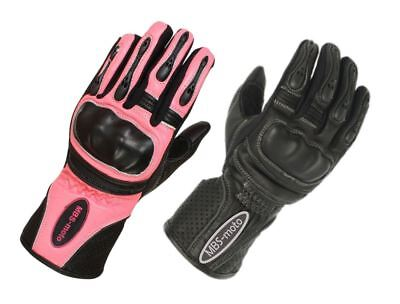 Woman Ladies Summer Leather Protective Gloves For Motorcycle Motorbike Scooter • 17.99£
