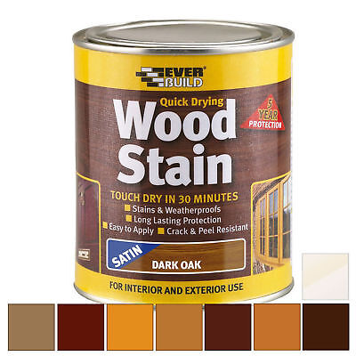 £9.99 • Buy Everbuild Wood Stain | Indoor & Outdoor | Quick Drying | All Colours 250ml 750ml