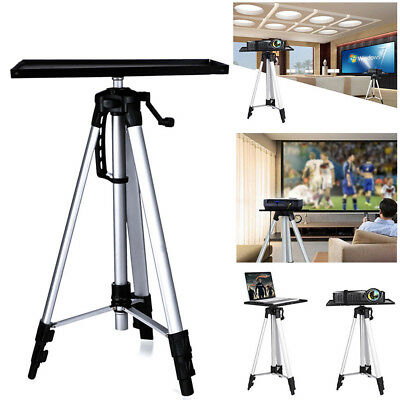AU43.91 • Buy Projector Tripod Stand Aluminium Adjustable For Laptop With Tray 52-140cm Height