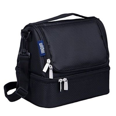 $ CDN46.45 • Buy Lunch Box Bag Double Decker Black Travel Kids School Adult Boy Girl Camp New