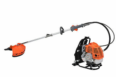 View Details Petrol Backpack Brush Cutter Strimmer Grass Trimmer Garden 52cc 2 Stroke Kit • 106.99£
