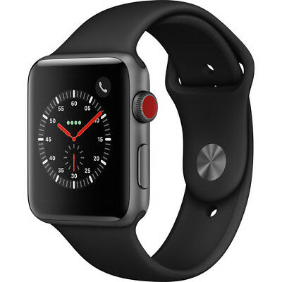 $ CDN331.28 • Buy Apple Watch Series 3 GPS/Cellular 42MM Space Gray And Black Sport Band MQK22LL/A