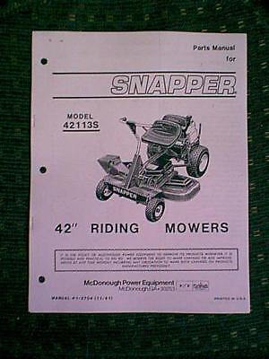 snapper riding mower parts