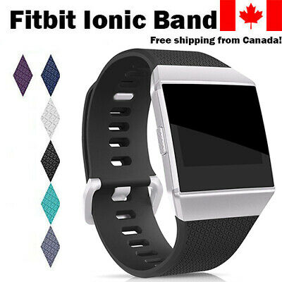 $ CDN10.29 • Buy For Fitbit Ionic Band Replacement Wrist Strap Silicone Smart Watch Band Large