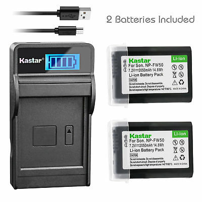 $ CDN23.64 • Buy NP-FW50 Battery & LCD Charger For Sony ILCE-6300 Alpha A6300, ILCE-QX1