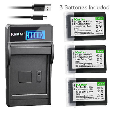 $ CDN31.35 • Buy NP-FW50 Battery & LCD Charger For Sony ILCE-6500 Alpha A6500, ILCE-QX1L