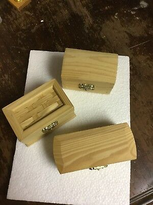 $6.75 • Buy Craft Wooden Boxes With Clasps