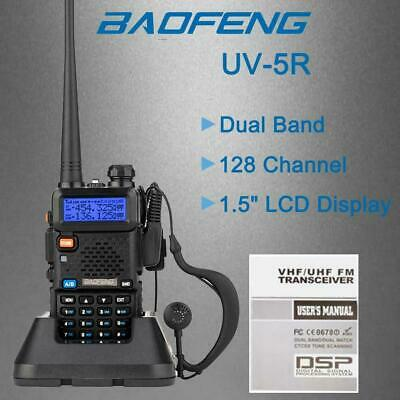 Baofeng UV-5R VHF/UHF Dual-Band USB Two Way Ham Radio Walkie-Talkie Earphone UK • 18.99£