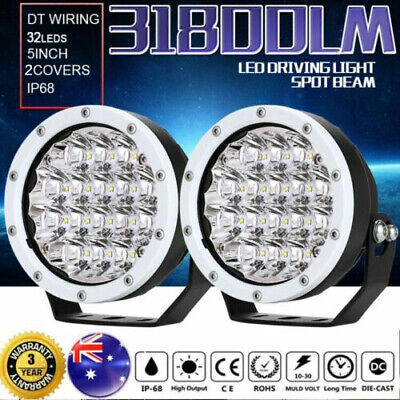 AU72.96 • Buy 5inch OSRAM LED Driving Work Lights Spot Round Spotlight White Offroad HID 4wd