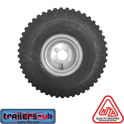 £69.99 • Buy ATV Trailer Wheel & Tyre 22x11x8 4  PCD With Greese Nipple - FREE DELIVERY