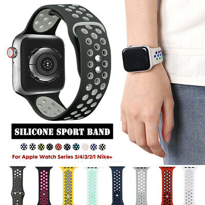 $ CDN9.64 • Buy 40/44/38/42/mm Silicone Sport Watch Band Strap For Apple Watch Series 5 4 3 2 1