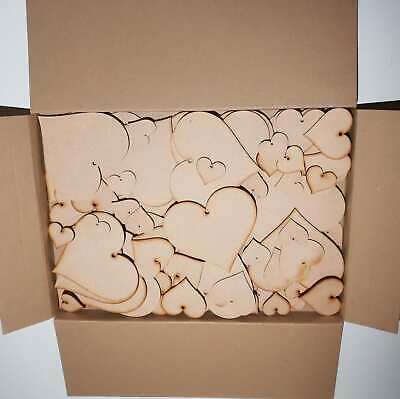 £4.28 • Buy Wooden MDF Shapes MIXED Hearts Embellishments Wedding Tags CLEARANCE Heart SF1