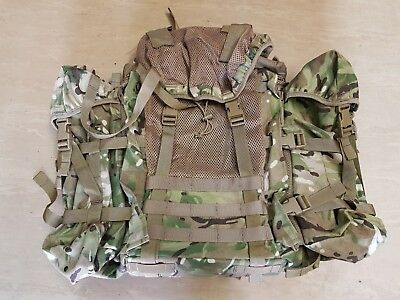 NEW British Army Issue MTP Camo Multicam ECM Bergen Rucksack With Side Pouches • 79.95£