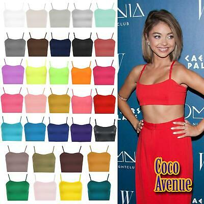£3.95 • Buy New Ladies Strappy Plain Camisole Bralet Sleeveless Sports Gym Vest Crop Bra Top